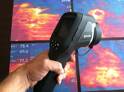 flir-gun-infrared-flat-roof-diagnosis
